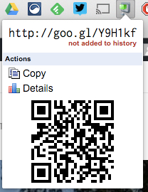 The goo.gl shortener also creates QR codes.